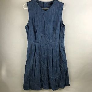 Gap chambray fit and flare dress